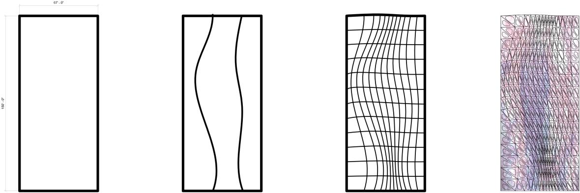 Triangle wall curvy diagram